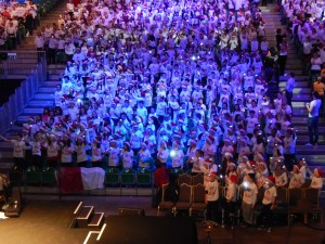 """Fifth and Sixth Class pupils took part in the Hallelujah Concert in CityWest on Friday, 6th December 2013. A most enjoyable concert concluded with """"Free Nelson Mandela"""", a tribute to the South African leader who passed away the previous night."""