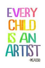 every child is an artist picasso