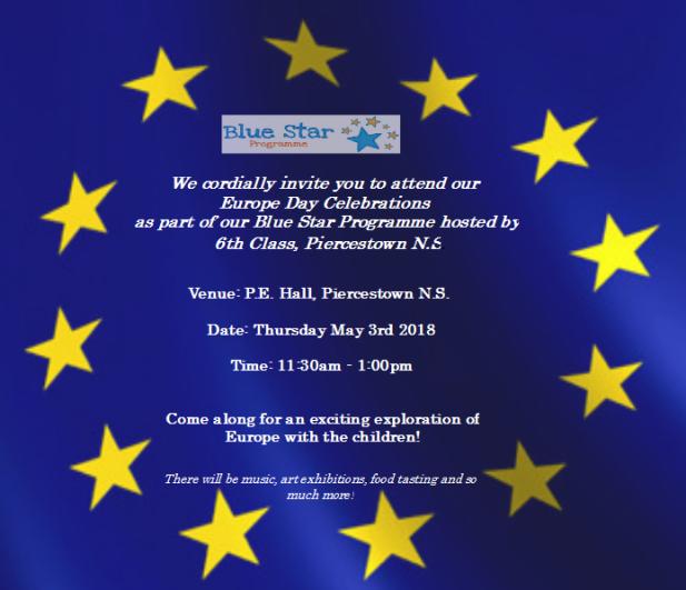 Europe Day Invitation 2018 Piercestown NS