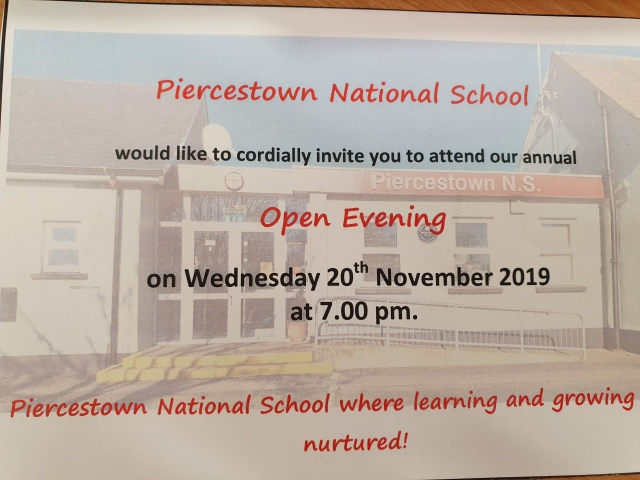 open night invite 2019 2020